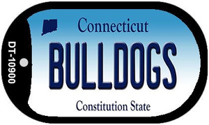 Bulldogs Connecticut Wholesale Novelty Metal Dog Tag Necklace DT-10900