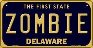 Zombie Delaware Wholesale Novelty Metal Bicycle Plate BP-6704