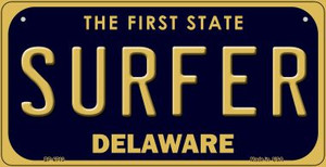 Surfer Delaware Wholesale Novelty Metal Bicycle Plate BP-6713
