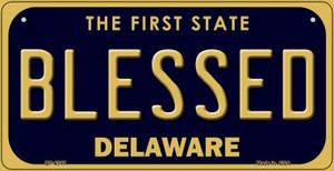 Blessed Delaware Wholesale Novelty Metal Bicycle Plate BP-6717