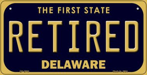 Retired Delaware Wholesale Novelty Metal Bicycle Plate BP-6718