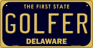 Golfer Delaware Wholesale Novelty Metal Bicycle Plate BP-6719