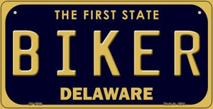 Biker Delaware Wholesale Novelty Metal Bicycle Plate BP-6722