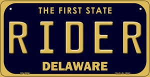 Rider Delaware Wholesale Novelty Metal Bicycle Plate BP-6723