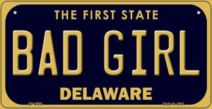 Bad Girl Delaware Wholesale Novelty Metal Bicycle Plate BP-6725