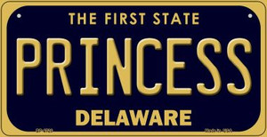 Princess Delaware Wholesale Novelty Metal Bicycle Plate BP-6728