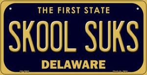 Skool Suks Delaware Wholesale Novelty Metal Bicycle Plate BP-6738