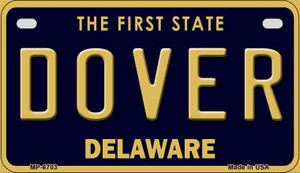 Dover Delaware Wholesale Novelty Metal Motorcycle Plate MP-6703