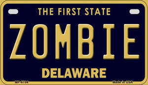 Zombie Delaware Wholesale Novelty Metal Motorcycle Plate MP-6704