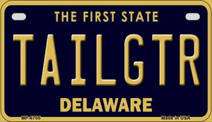 Tailgtr Delaware Wholesale Novelty Metal Motorcycle Plate MP-6705