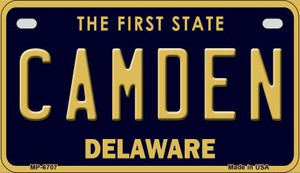 Camden Delaware Wholesale Novelty Metal Motorcycle Plate MP-6707