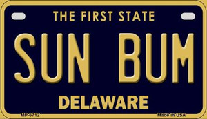 Sun Bum Delaware Wholesale Novelty Metal Motorcycle Plate MP-6712