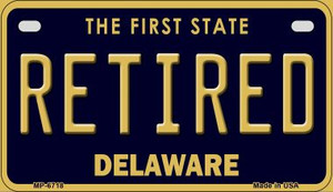 Retired Delaware Wholesale Novelty Metal Motorcycle Plate MP-6718