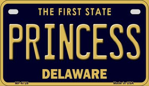 Princess Delaware Wholesale Novelty Metal Motorcycle Plate MP-6728