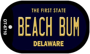Beach Bum Delaware Wholesale Novelty Metal Dog Tag Necklace DT-6710