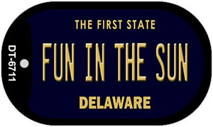 Fun in the Sun Delaware Wholesale Novelty Metal Dog Tag Necklace DT-6711