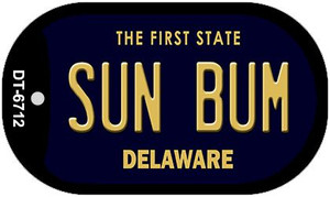 Sun Bum Delaware Wholesale Novelty Metal Dog Tag Necklace DT-6712
