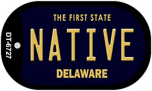 Native Delaware Wholesale Novelty Metal Dog Tag Necklace DT-6727