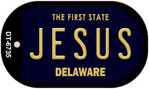Jesus Delaware Wholesale Novelty Metal Dog Tag Necklace DT-6735