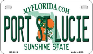Port St Lucie Florida Wholesale Novelty Metal Motorcycle Plate MP-6015