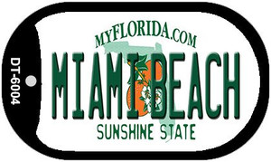 Miami Beach Florida Wholesale Novelty Metal Dog Tag Necklace DT-6004