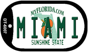 Miami Florida Wholesale Novelty Metal Dog Tag Necklace DT-6007