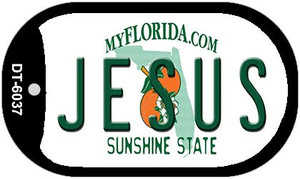 Jesus Florida Wholesale Novelty Metal Dog Tag Necklace DT-6037