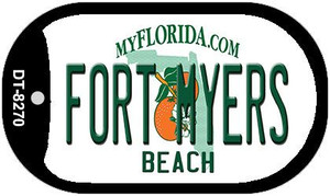 Fort Myers Beach Florida Wholesale Novelty Metal Dog Tag Necklace DT-8270