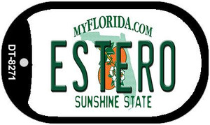 Estero Florida Wholesale Novelty Metal Dog Tag Necklace DT-8271