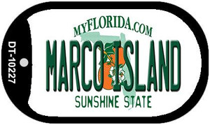Marco Island Florida Wholesale Novelty Metal Dog Tag Necklace DT-10227