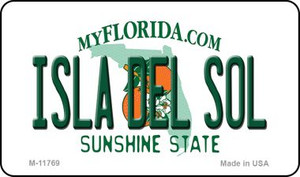Isla Del Sol Florida Wholesale Novelty Metal Magnet M-11769