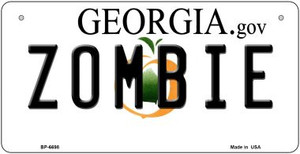 Zombie Georgia Wholesale Novelty Metal Bicycle Plate BP-6698