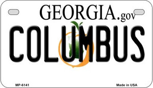 Columbus Georgia Wholesale Novelty Metal Motorcycle Plate MP-6141