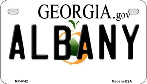 Albany Georgia Wholesale Novelty Metal Motorcycle Plate MP-6142