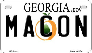 Macon Georgia Wholesale Novelty Metal Motorcycle Plate MP-6145