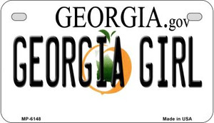 Georgia Girl Wholesale Novelty Metal Motorcycle Plate MP-6148