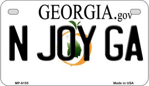 N Joy GA Georgia Wholesale Novelty Metal Motorcycle Plate MP-6155