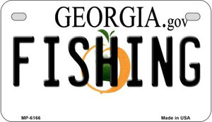 Fishing Georgia Wholesale Novelty Metal Motorcycle Plate MP-6166