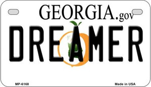Dreamer Georgia Wholesale Novelty Metal Motorcycle Plate MP-6168