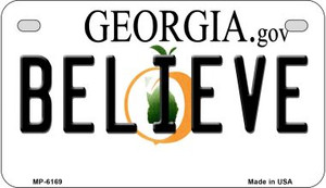 Believe Georgia Wholesale Novelty Metal Motorcycle Plate MP-6169
