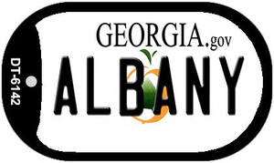 Albany Georgia Wholesale Novelty Metal Dog Tag Necklace DT-6142