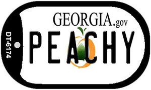 Peachy Georgia Wholesale Novelty Metal Dog Tag Necklace DT-6174