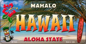 Hawaii Tiki Wholesale Novelty Metal Bicycle Plate BP-7810