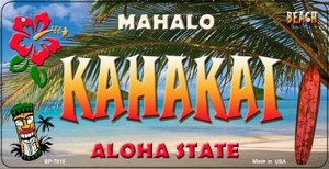Kahakai Tiki Wholesale Novelty Metal Bicycle Plate BP-7815