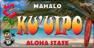 Ku'uipo Tiki Wholesale Novelty Metal Bicycle Plate BP-7821
