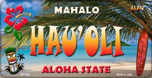 Hau'oli Tiki Wholesale Novelty Metal Bicycle Plate BP-7827