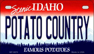 Potato Country Idaho Wholesale Novelty Metal Motorcycle Plate MP-9870
