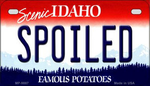 Spoiled Idaho Wholesale Novelty Metal Motorcycle Plate MP-9887