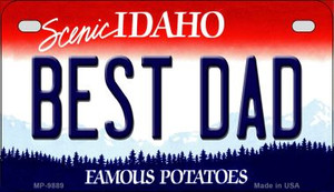 Best Dad Idaho Wholesale Novelty Metal Motorcycle Plate MP-9889