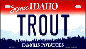 Trout Idaho Wholesale Novelty Metal Motorcycle Plate MP-9895